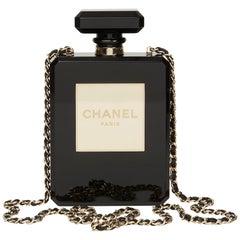 2013 Chanel Black Plexiglass No. 5 Perfume Bottle Bag