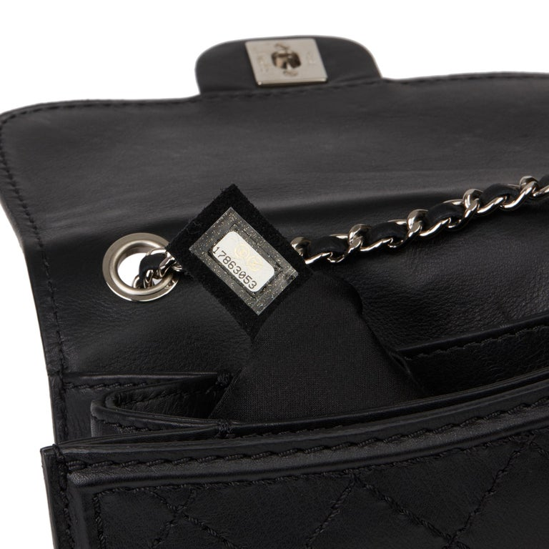 2013 Chanel Black Quilted Calfskin Leather Citizen Mini Flap Bag  For Sale 5