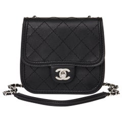 2013 Chanel Black Quilted Calfskin Leather Citizen Mini Flap Bag