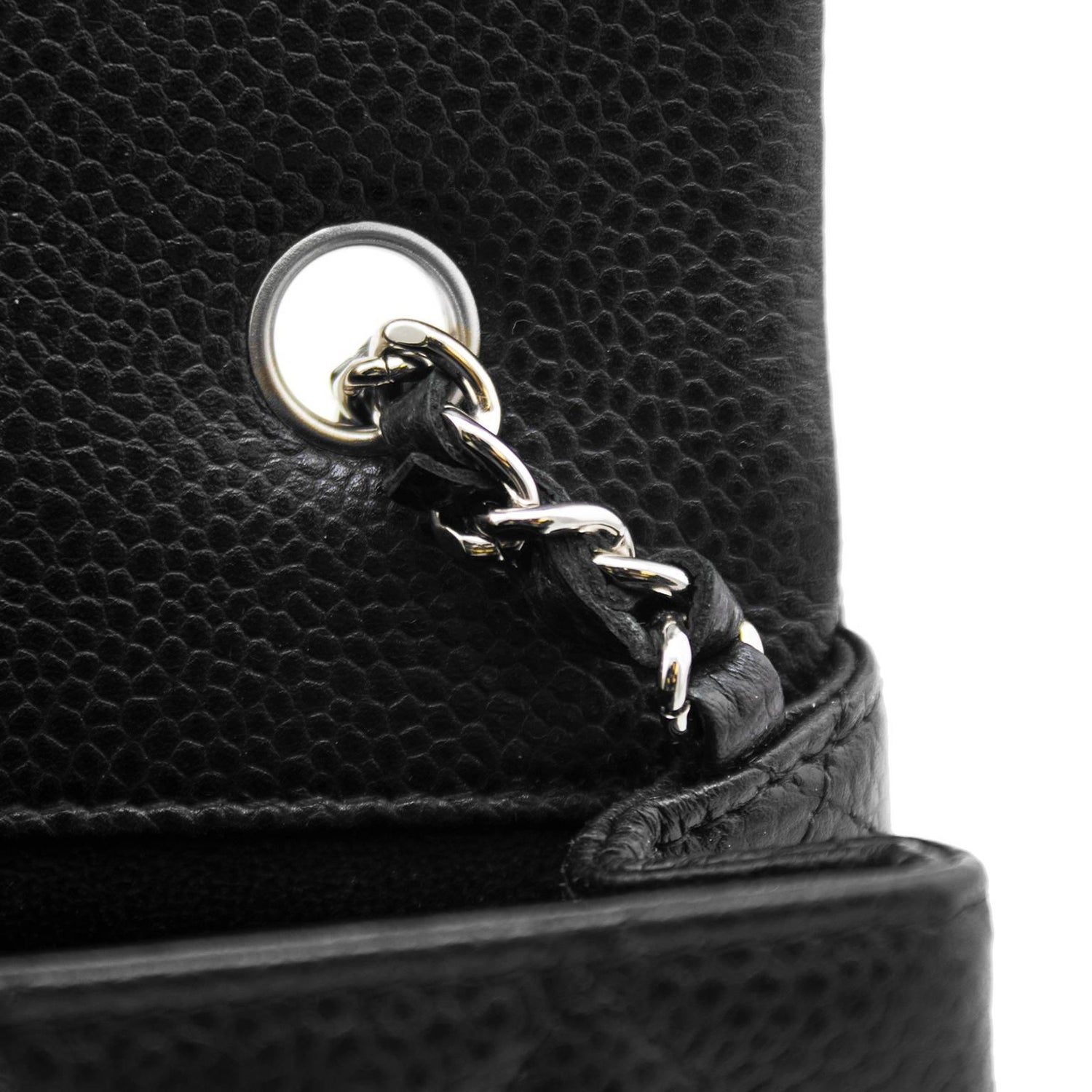 f97ceb12053aab 2013 Chanel Black Quilted Caviar Leather Chanel Classic Mini Flap Bag at  1stdibs