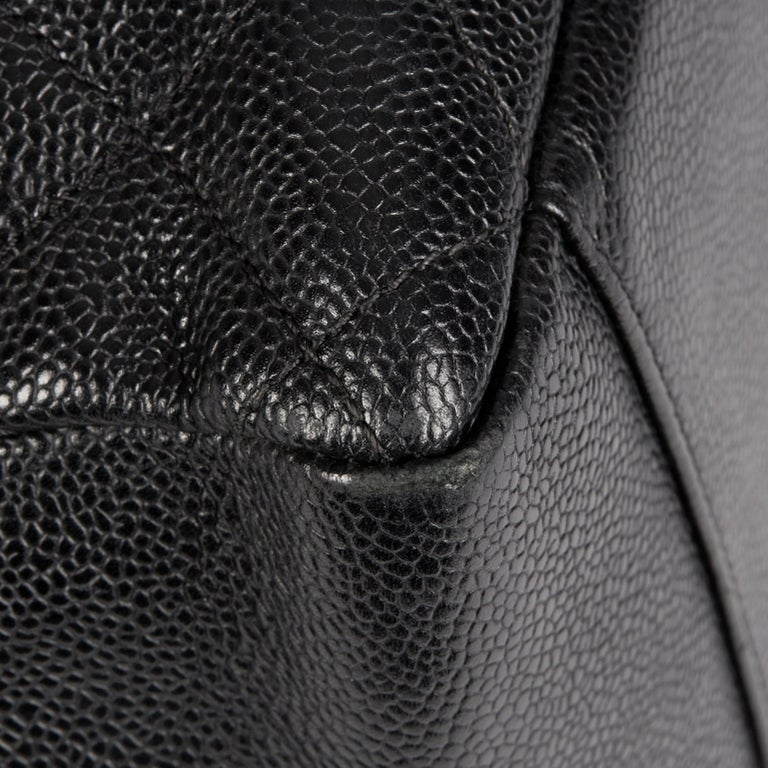 2013 Chanel Black Quilted Caviar Leather Grand Shopping Tote  9
