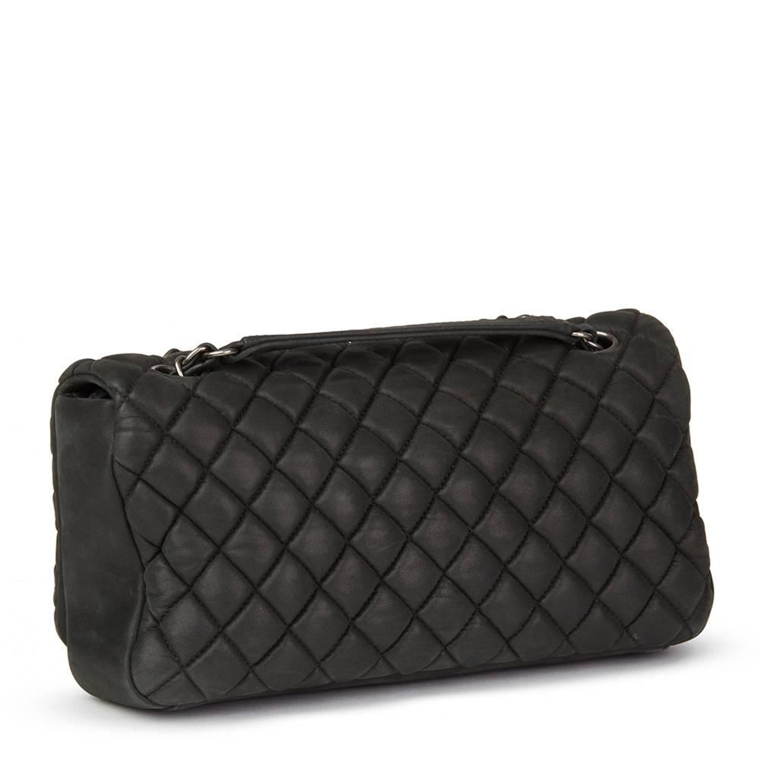f5438de68fcf 2013 Chanel Dark Grey Bubble Quilted Velvet Calfskin Small Bubble Flap Bag  at 1stdibs