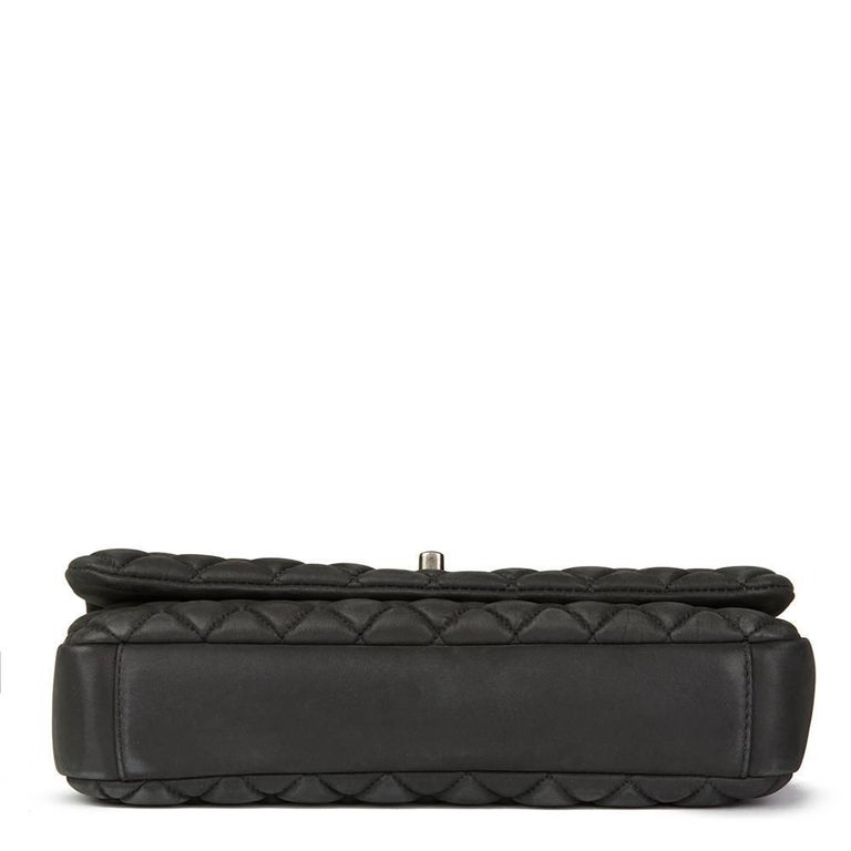 09e23c54516b 2013 Chanel Dark Grey Bubble Quilted Velvet Calfskin Small Bubble Flap Bag  In Excellent Condition For