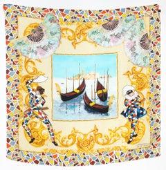 2013 Dolce and Gabbana Alta Moda Harlequin Silk Scarf