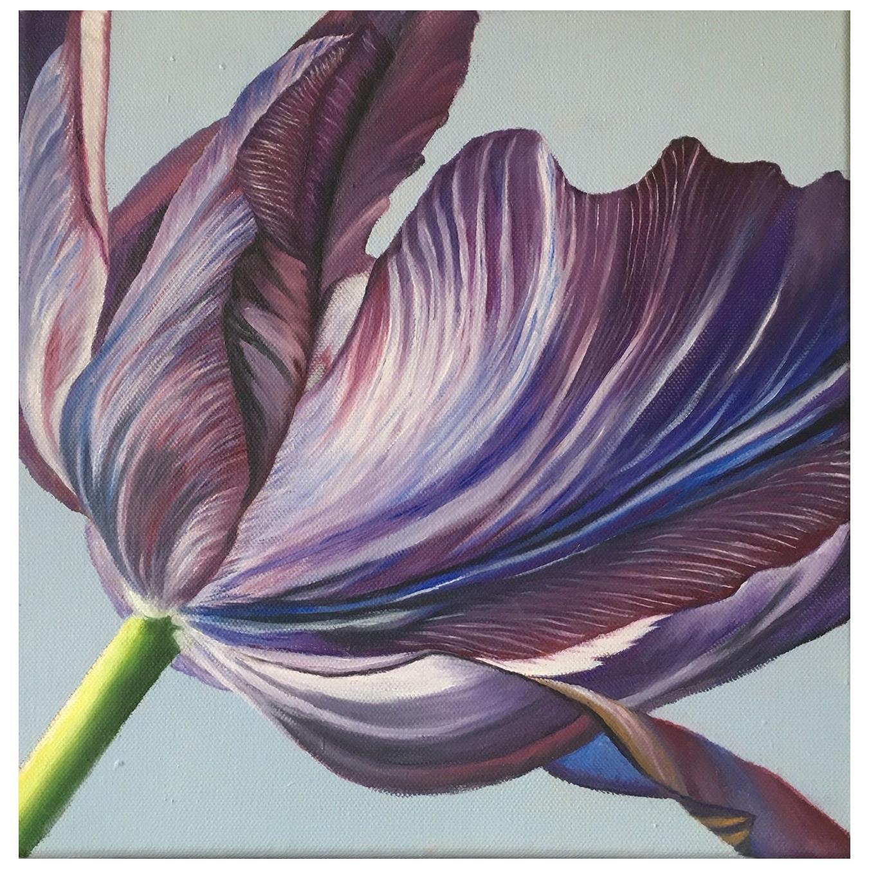 2013 Esther Hansen Blue Tulip, Danish Painting