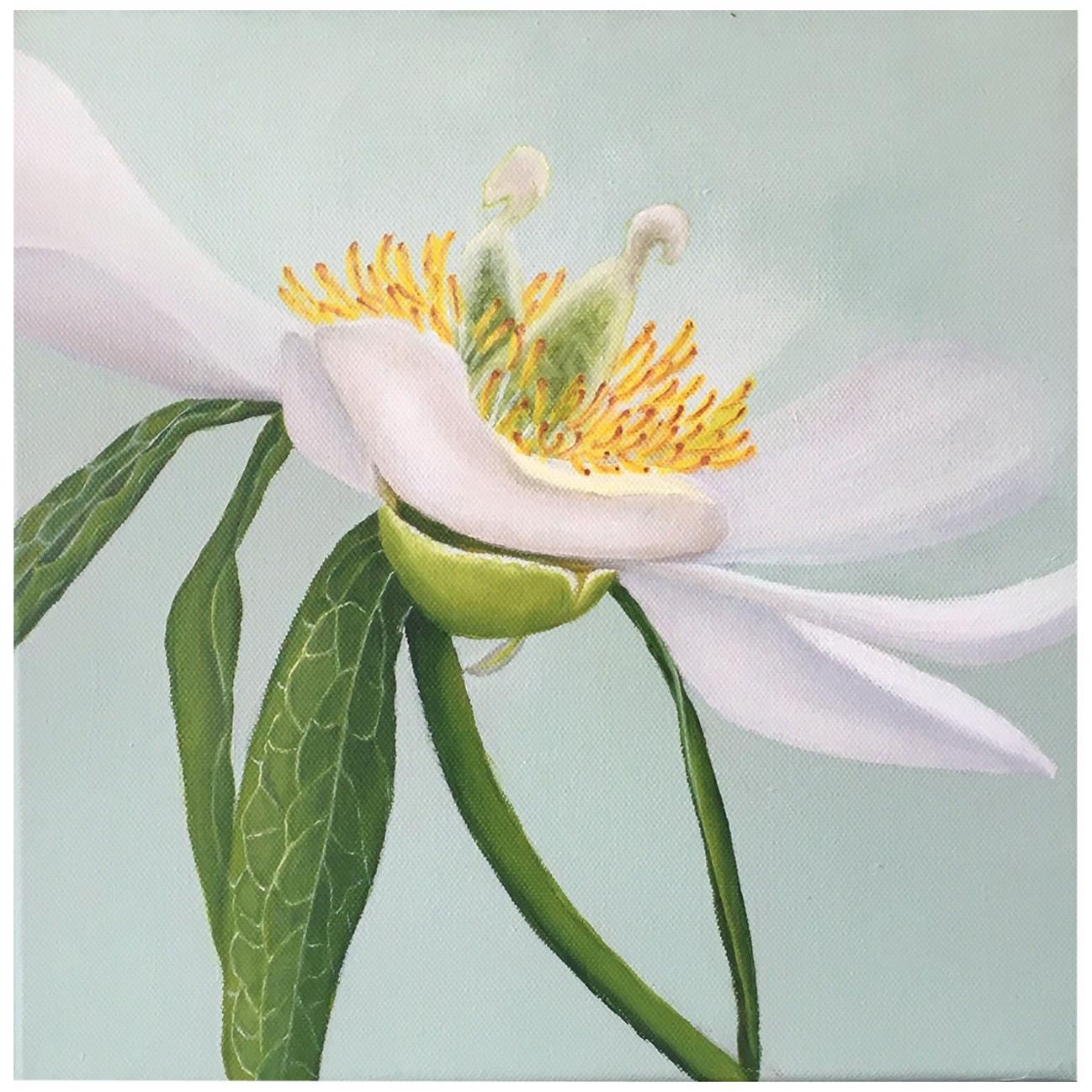 2013 Esther Hansen White Peony, Danish Painting