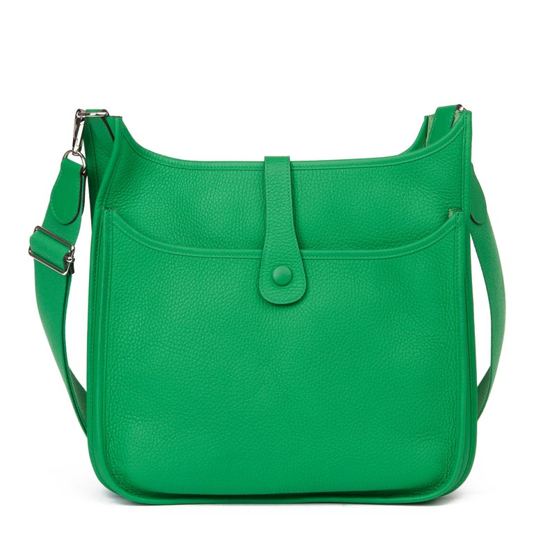 2013 Hermès Bamboo Clemence Leather Evelyne III 33 For Sale 1