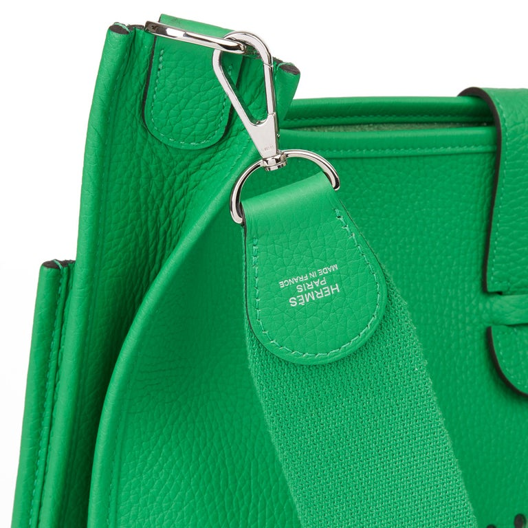 2013 Hermès Bamboo Clemence Leather Evelyne III 33 For Sale 3