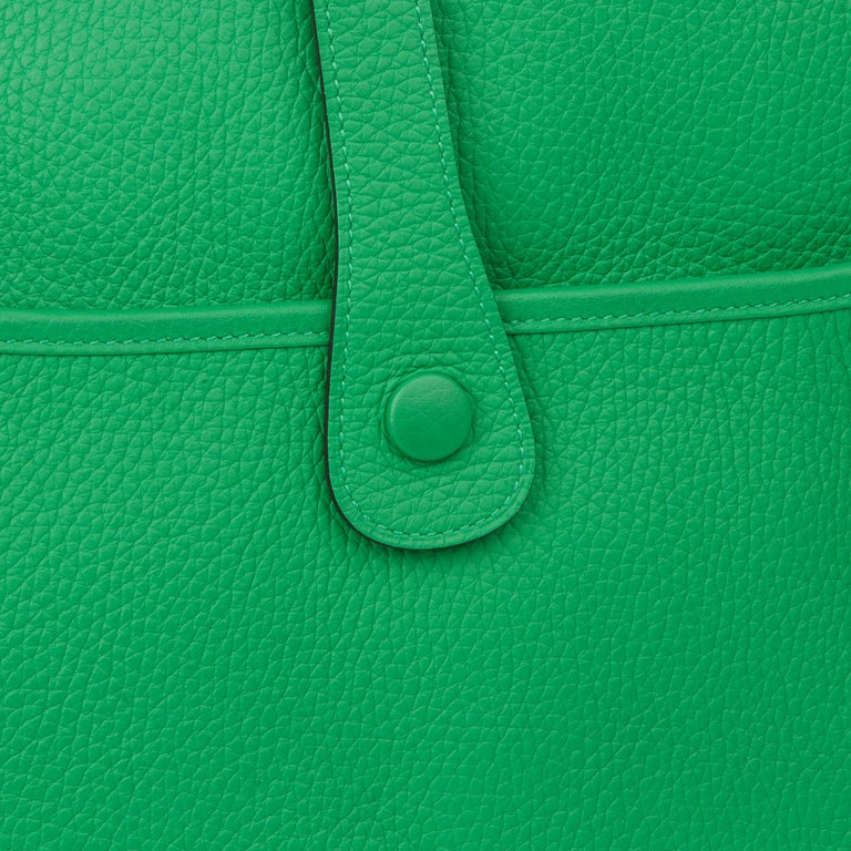 2013 Hermès Bamboo Clemence Leather Evelyne III 33 For Sale 4