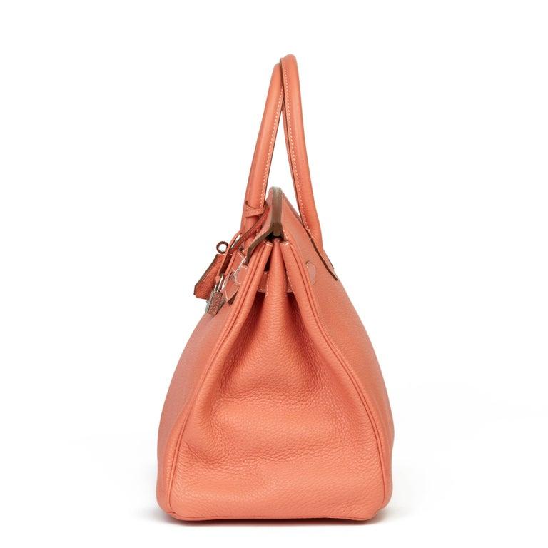 Orange 2013 Hermès Crevette Clemence Leather Birkin 35cm For Sale