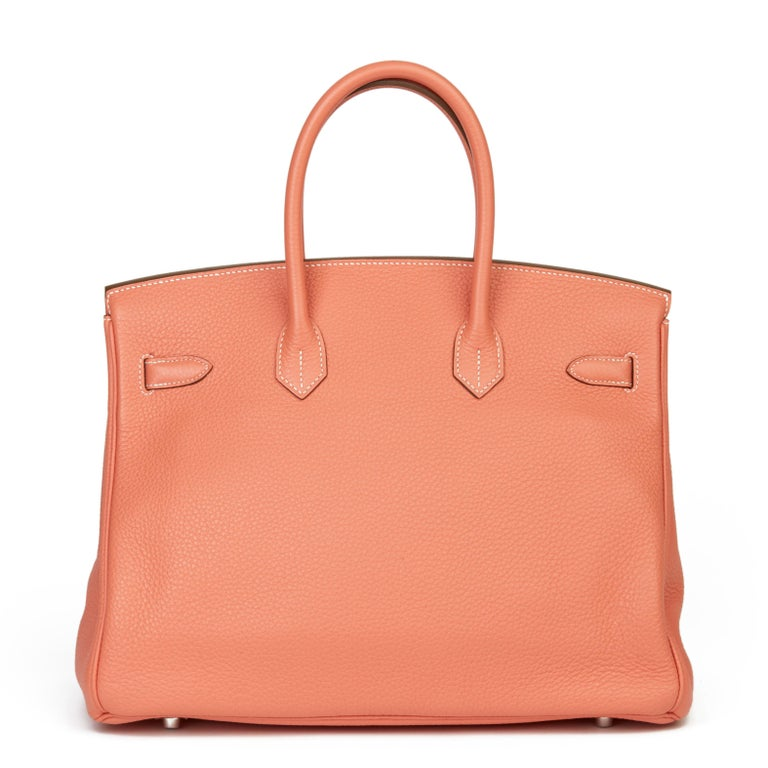 2013 Hermès Crevette Clemence Leather Birkin 35cm In Excellent Condition For Sale In Bishop's Stortford, Hertfordshire