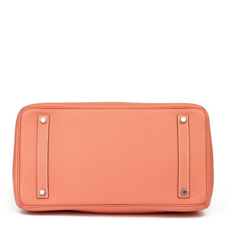 Women's 2013 Hermès Crevette Clemence Leather Birkin 35cm For Sale