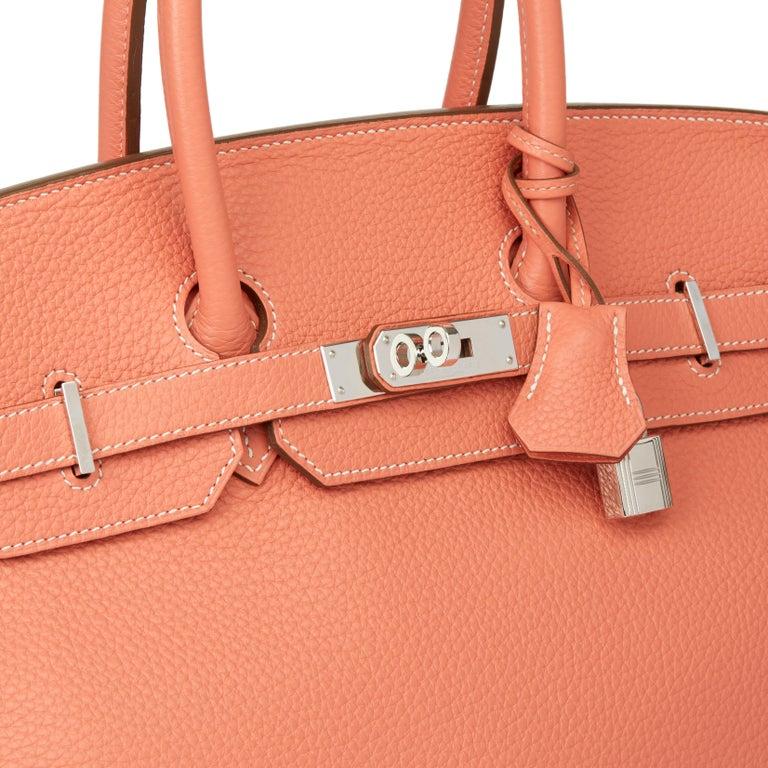 2013 Hermès Crevette Clemence Leather Birkin 35cm For Sale 1