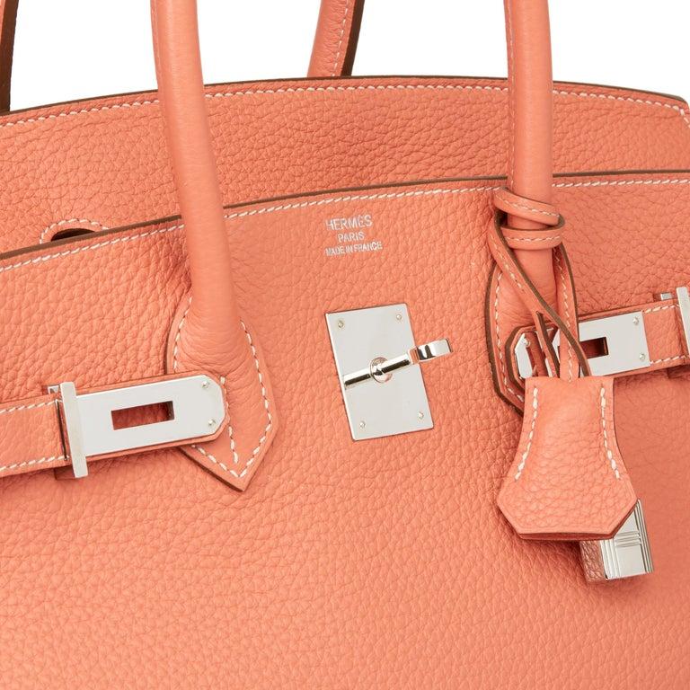 2013 Hermès Crevette Clemence Leather Birkin 35cm For Sale 2