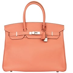 2013 Hermès Crevette Clemence Leather Birkin 35cm