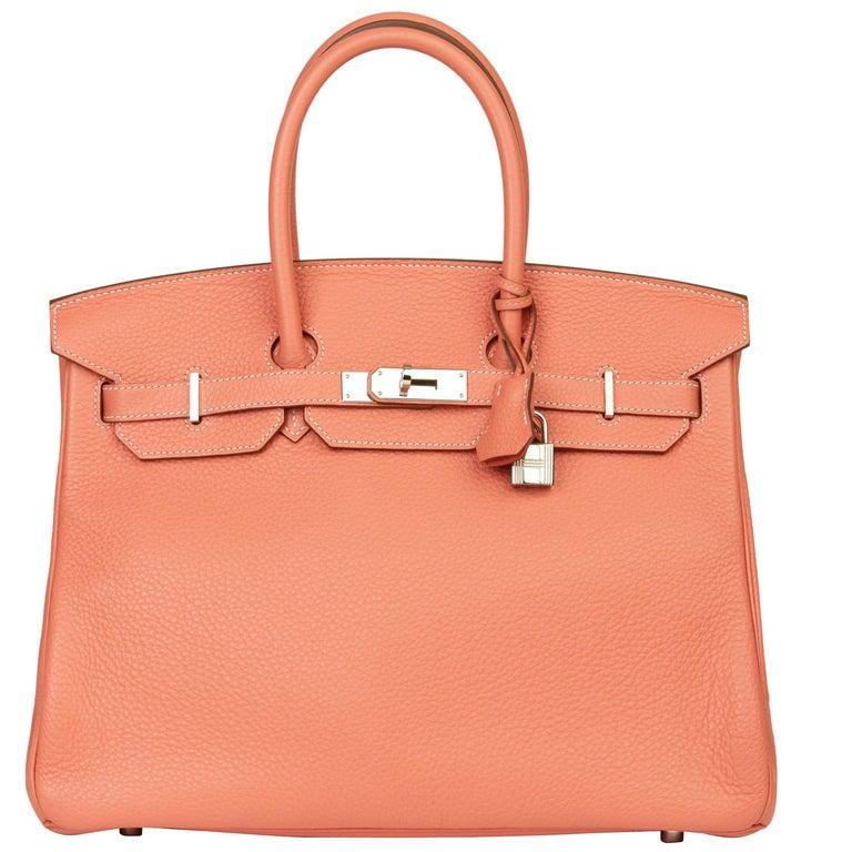 2013 Hermès Crevette Clemence Leather Birkin 35cm For Sale