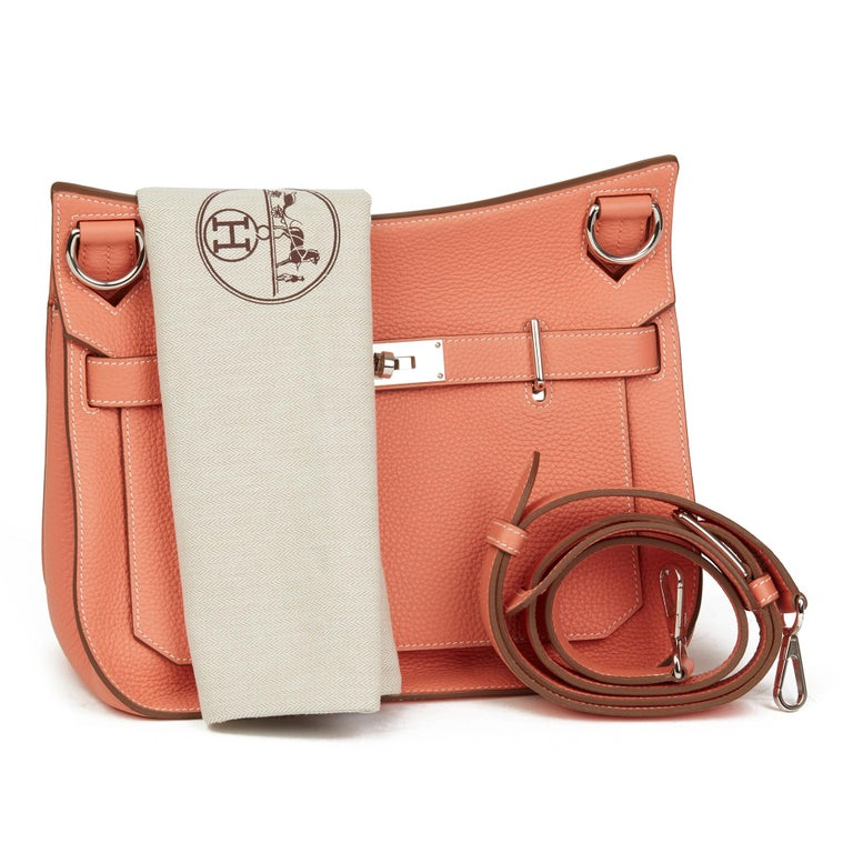 2013 Hermès Crevette Togo Leather Jypsiere 31cm For Sale 6