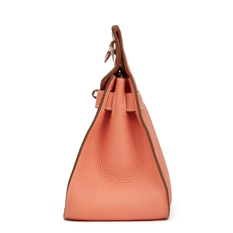 Orange 2013 Hermès Crevette Togo Leather Jypsiere 31cm For Sale