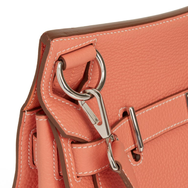 2013 Hermès Crevette Togo Leather Jypsiere 31cm For Sale 2