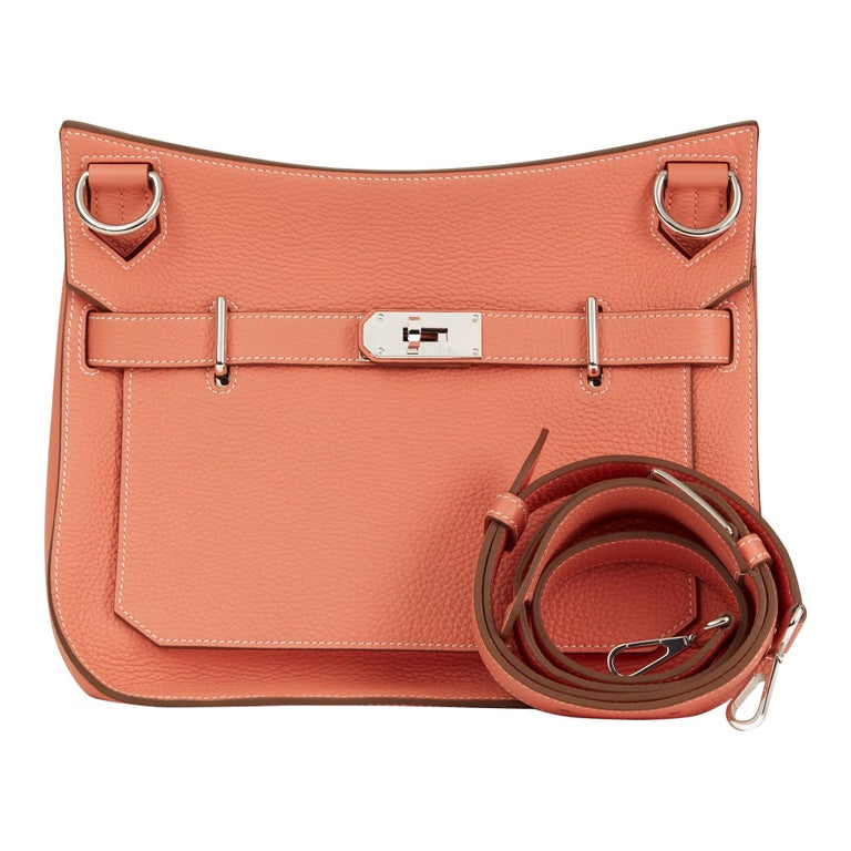 2013 Hermès Crevette Togo Leather Jypsiere 31cm For Sale