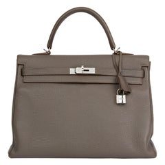 2013 Hermès Etain Togo Leather Kelly 35cm Retourne