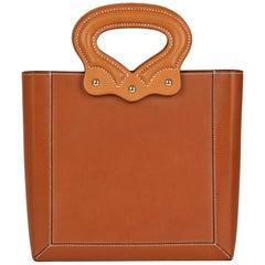 2013 Hermès Fauve & Natural Barenia Leather Cut Out Handle Tote
