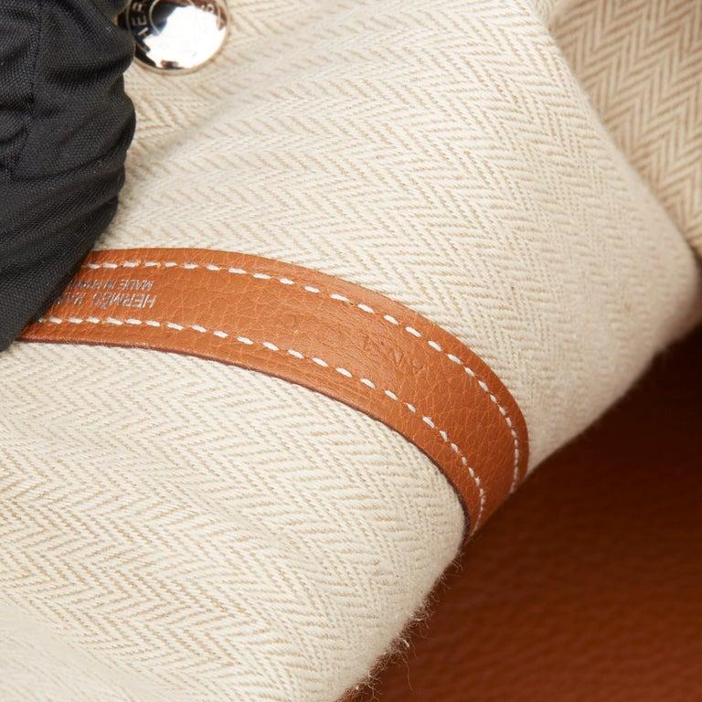 2013 Hermès Gold Negonda Leather Garden Party 36cm  For Sale 6