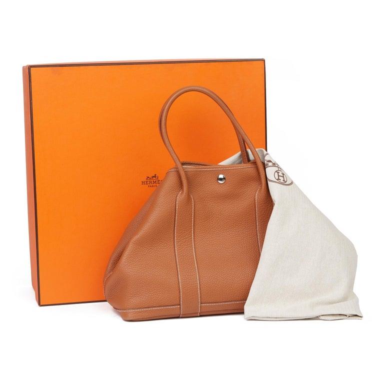 2013 Hermès Gold Negonda Leather Garden Party 36cm  For Sale 8