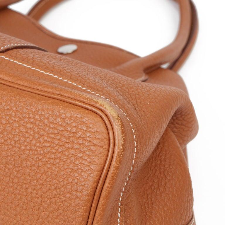 2013 Hermès Gold Negonda Leather Garden Party 36cm  For Sale 9