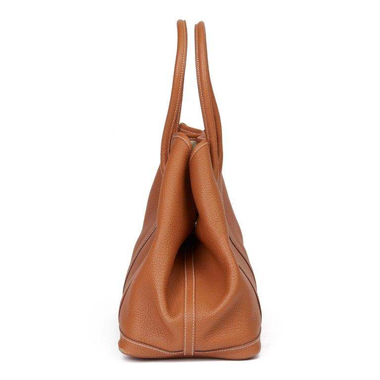 2013 Hermès Gold Negonda Leather Garden Party 36cm  In Fair Condition For Sale In Bishop's Stortford, Hertfordshire