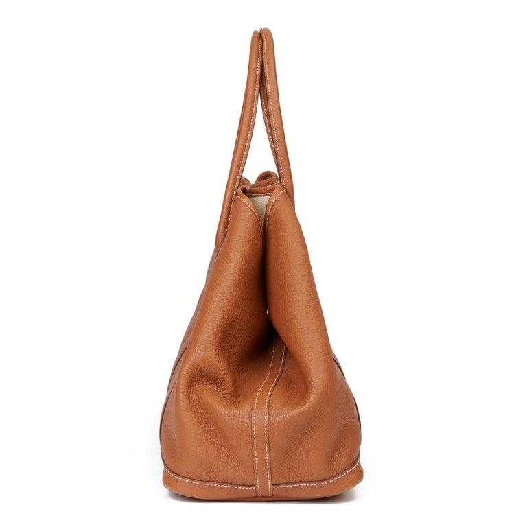 Women's 2013 Hermès Gold Negonda Leather Garden Party 36cm  For Sale