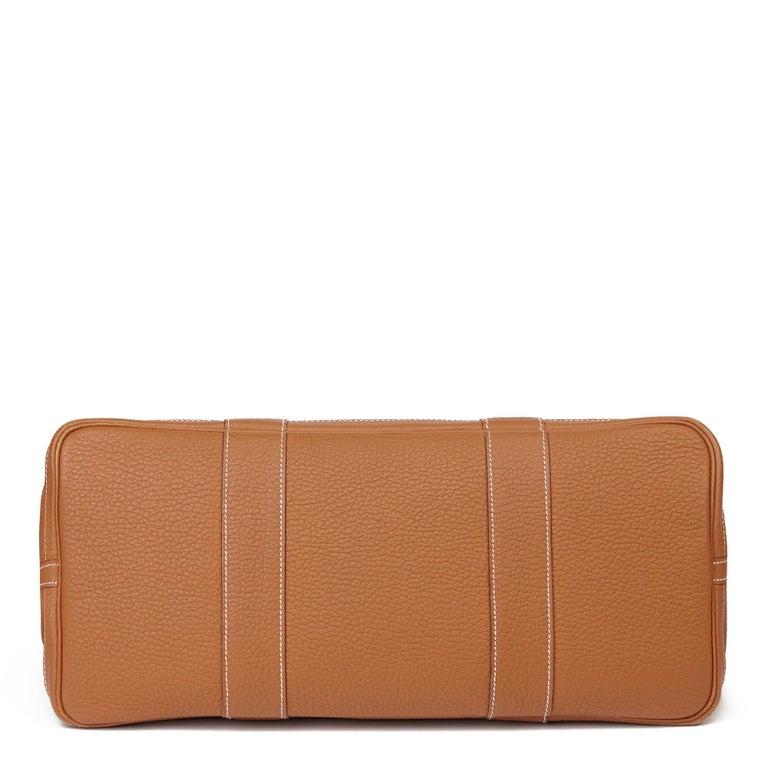 2013 Hermès Gold Negonda Leather Garden Party 36cm  For Sale 2