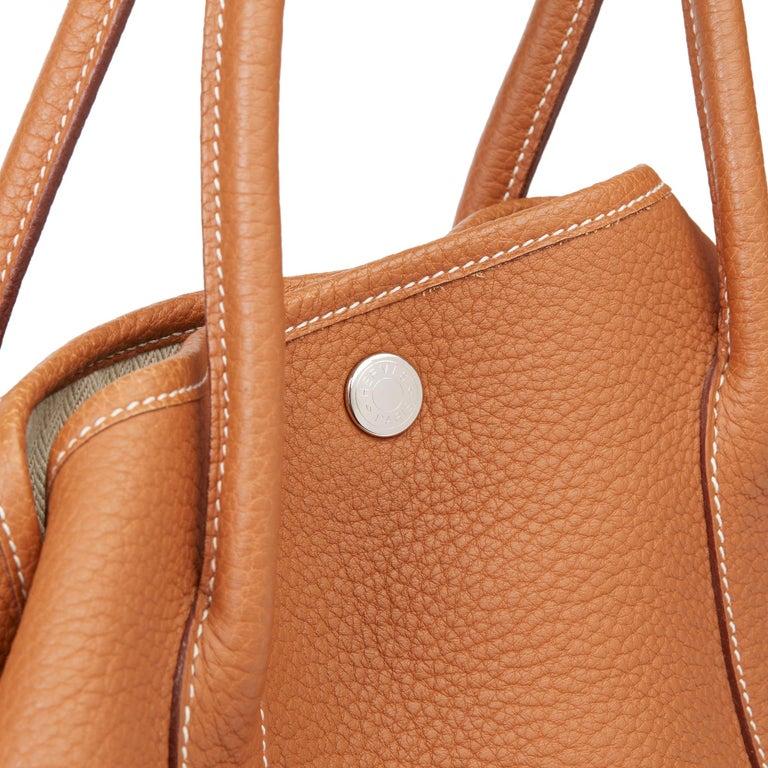 2013 Hermès Gold Negonda Leather Garden Party 36cm  For Sale 3