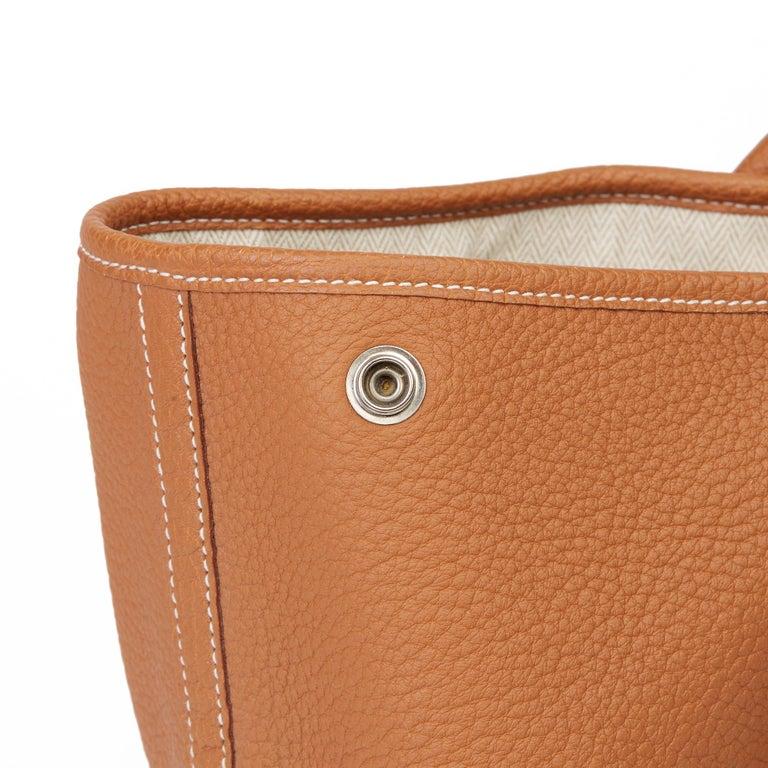 2013 Hermès Gold Negonda Leather Garden Party 36cm  For Sale 4