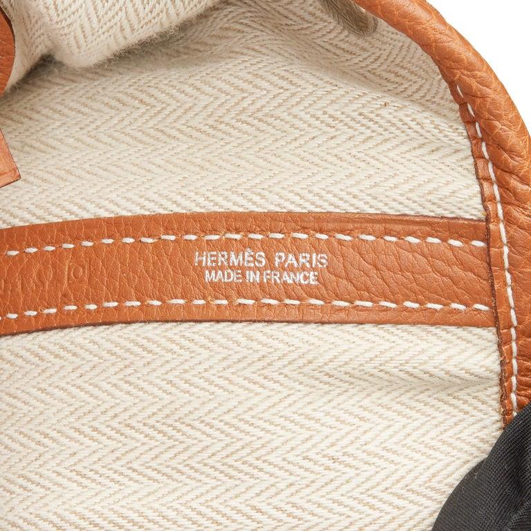 2013 Hermès Gold Negonda Leather Garden Party 36cm  For Sale 5