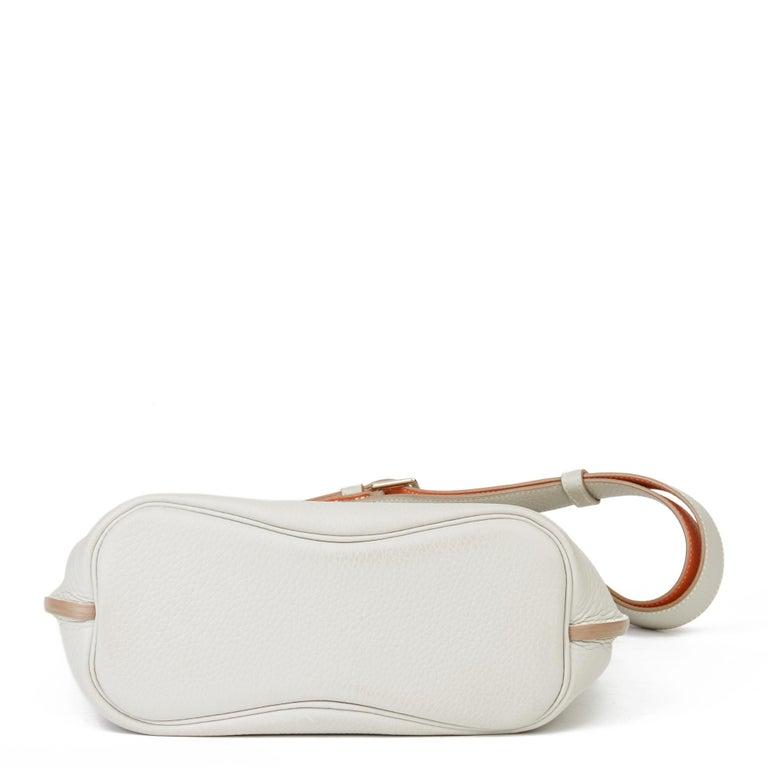 2013 Hermès Gris Perle & Crevette Clemence Leather Eclat So Kelly 22cm For Sale 1