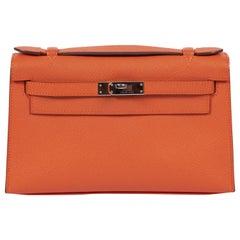 2013 Hermes Orange Epsom Kelly Pouchette