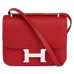 2013 Hermès Rouge Casaque Epsom Leather Constance 18