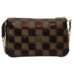 2013 Louis Vuitton Damier Ebene Pochette Paillettes Bag