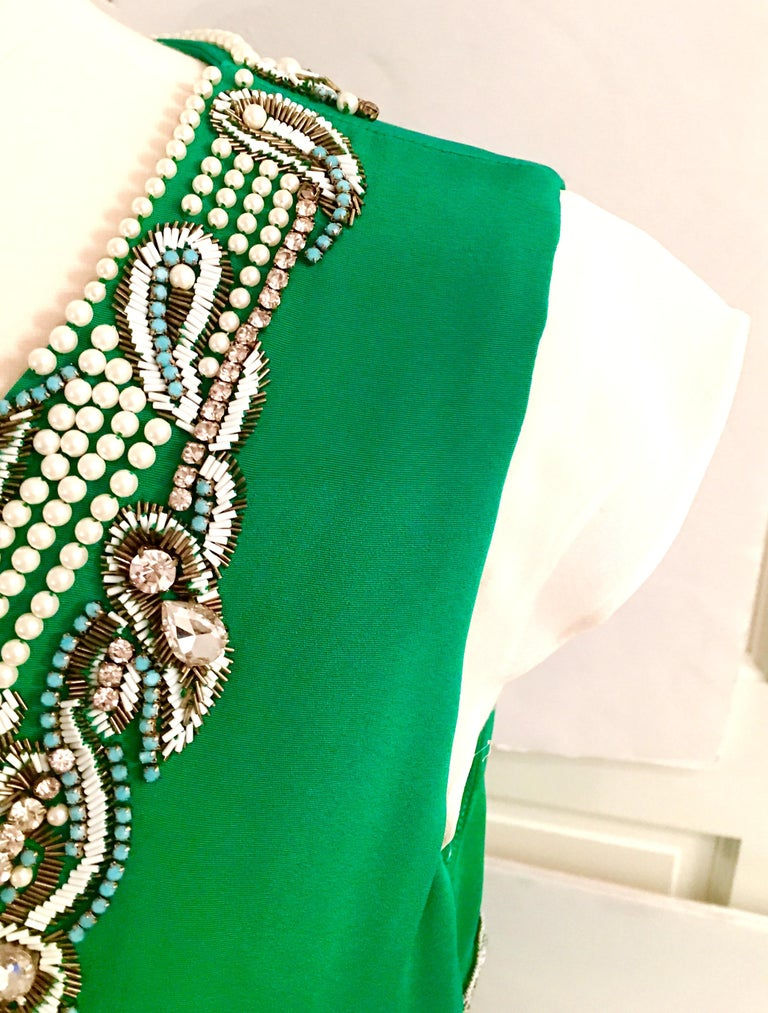 2013 New Runway Hand Beaded Silk Dress By, Thakoon, Italy- Size 6 For Sale 5