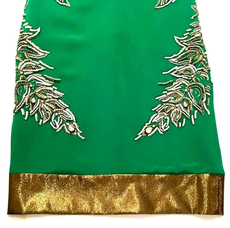 2013 New Runway Hand Beaded Silk Dress By, Thakoon, Italy- Size 6 For Sale 9