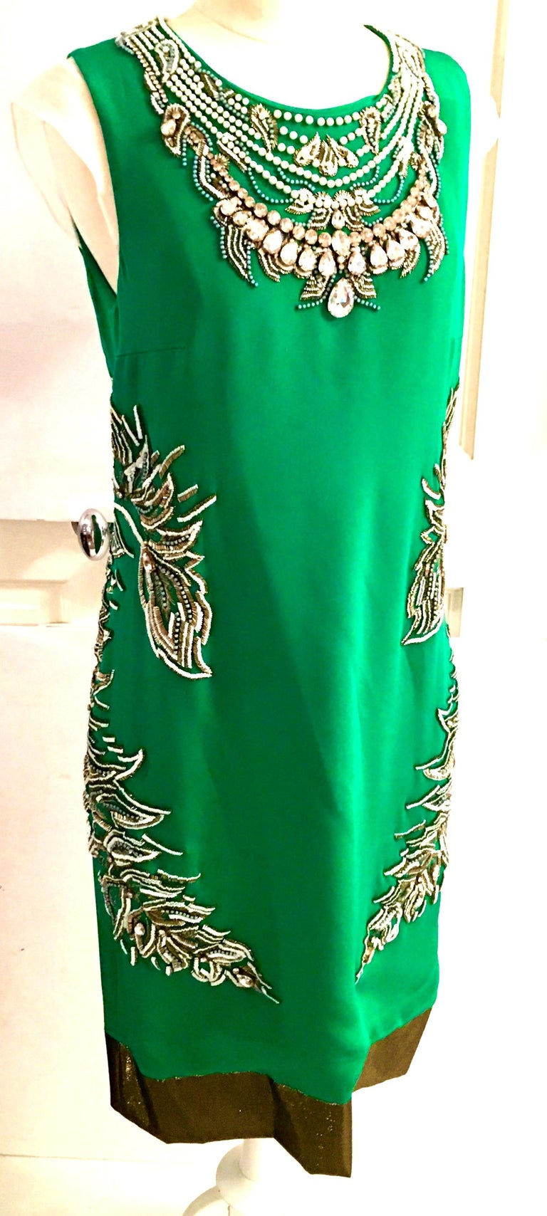 2013 New Runway Hand Beaded Silk Dress By, Thakoon, Italy- Size 6 In New Condition For Sale In West Palm Beach, FL