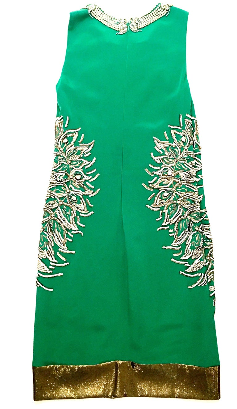 Women's 2013 New Runway Hand Beaded Silk Dress By, Thakoon, Italy- Size 6 For Sale