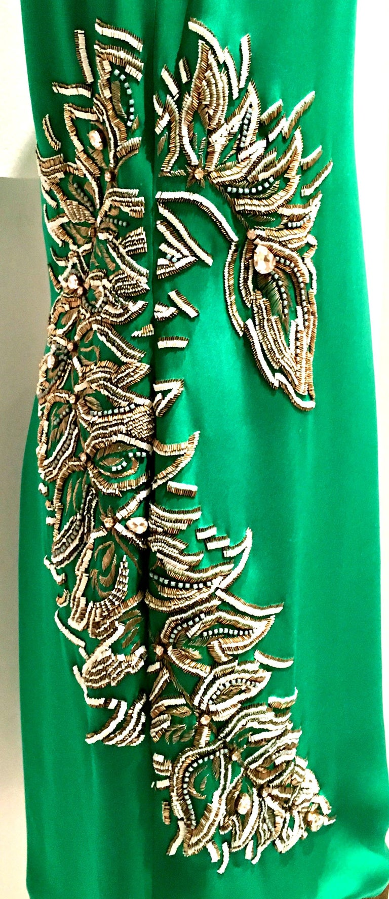 2013 New Runway Hand Beaded Silk Dress By, Thakoon, Italy- Size 6 For Sale 1