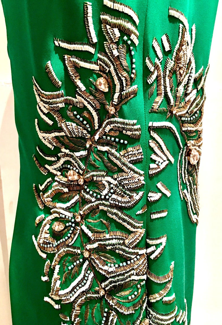 2013 New Runway Hand Beaded Silk Dress By, Thakoon, Italy- Size 6 For Sale 2