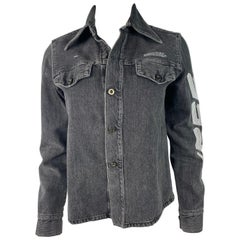 2013 Off- White Denim Shirt Jacket, Size 38