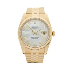 2013 Rolex Datejust Yellow Gold 116238 Wristwatch