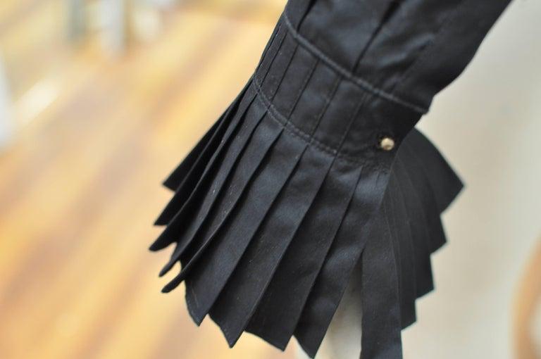Women's 2014 Alexander McQueen Black Stud Collar Tuxedo Shirt 38 (Itl) For Sale