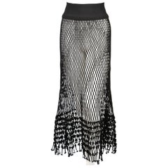 2014 CELINE by PHOEBE PHILO black net runway skirt - new