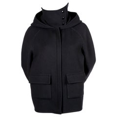2014 CELINE by PHOEBE PHILO navy hooded cashmere jacket with patch pockets NEW